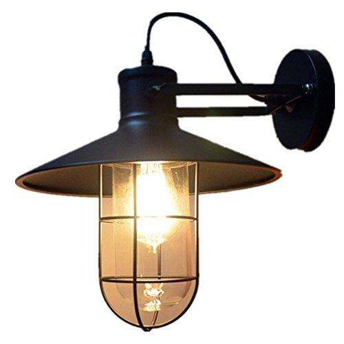 FWEF Armco uccello gabbia parete lampada magazzino all'aperto parete lampada retrò industriale Ristorante Bar lampada da comodino lampada da parete 30 CM * 27 CM