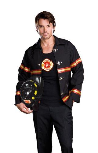 Dreamgirl Smokin Hot Fire Department Man Erwachsene Kostüm Gr. X-Large, schwarz/red