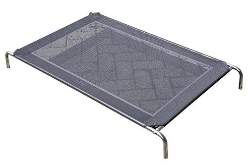 Hundefeldbett - Luxushundeliege aus Edelstahl - EXTRA Stabil kein 'Billiger' Schrott (118x63x15cm)