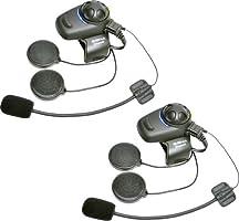 Sena SMH5D-FM-01 Auricolare Bluetooth E Intercom Con Sintonizzatore Radio FM Integrato Per Scooter E Moto, Kit Per Casco Aperto Confezione Doppia