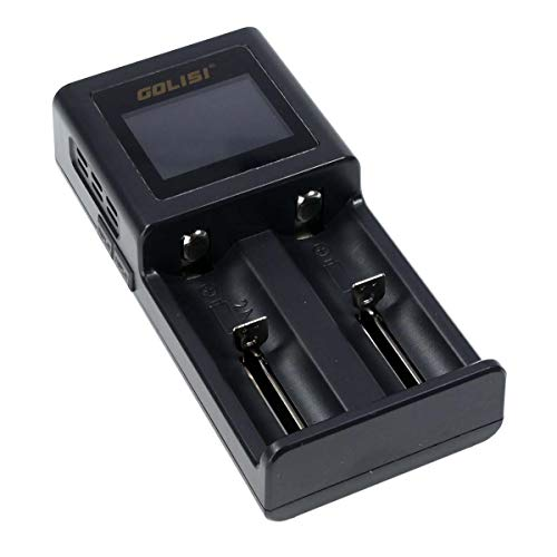 Golisi Smart S2 Charger, Ladegerät mit 2 Ladeschächten, ideal für e-Zigarette