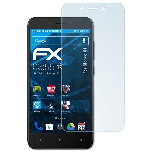 atFolix Schutzfolie kompatibel mit Gionee X1 Folie, ultraklare FX Bildschirmschutzfolie (3X)