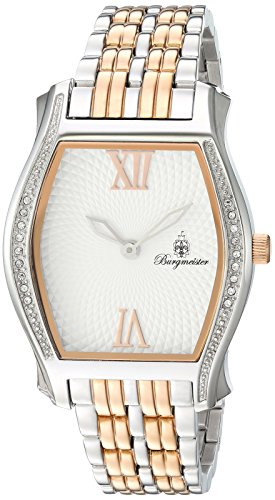 Burgmeister Women's Quartz Watch with Silver Dial Analogue Display and Rose Gold Stainless Steel Bracelet BM806-917