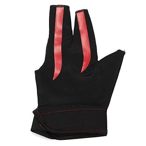 SKAISK Billardhandschuh für Linkshänder, rot, Einheitsgröße