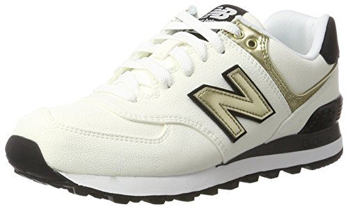 New Balance 574, Baskets Femme, Blanc (White), 39 EU