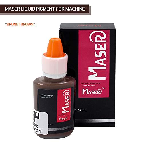 Tattoo Ink BIOMASER Microblading Pigment Permanent Make-up Tattoofarbe Tätowierfarbe für Permanent Makeup Machine Augenbrauen Eyeliner (BRUNET BROWN)