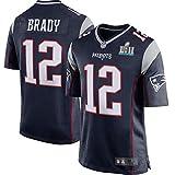 HFJLL Maillot de Football NFL Patriots Brady 12# T-Shirt