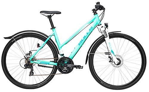Damen Fahrrad 28 Zoll - Bulls Wildcross Street - Shimano 21-Gang Kettenschaltung, Suntour Federgabel, Nabendynamo, glucite Green matt