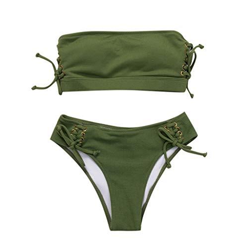Traje de baño para Mujer de Cintura Alta, Bikinis de NoBranded para Mujer, bañador con triángulo...