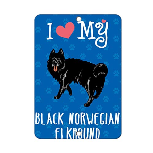 Pegatinas Texto inglés I Love My Black Norwegian