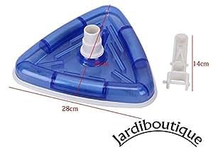 Jardiboutique aspirateur balai triangulaire avec brosse for Balai aspirateur piscine triangulaire