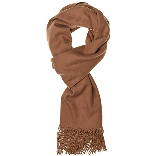 World of Accessories feiner Pashmina Damenschal (Camel) Camel Cashmere