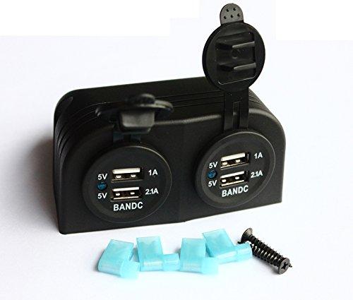 bandc Auto Boot Zwei USB Lade Buchse + DC rot Digital Voltmeter Zelt