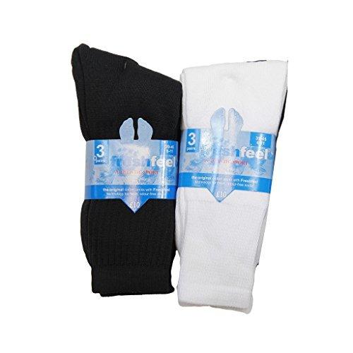 6pairs Chaussettes de sport en coton pour homme Hike extérieur multiusage Gym Sports Chaussettes Taille 39–45 - Multicolore - Taille unique