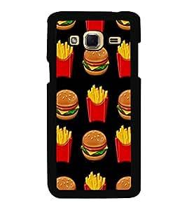 Printvisa Ultra Burger and Fries 2D Hard Polycarbonate Designer Back Case Cover for Samsung G...