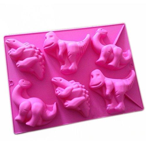 wholeport Bougie moule à gâteau en silicone en forme de dinosaure Moule