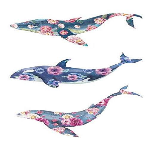 adgkitb 5 stücke Fisch Tattoo Aufkleber Wasserdicht Temporäre Gefälschte Tatoo Tiere Arm Hand Schulter Kunst SF3591 10,5X6 cm -