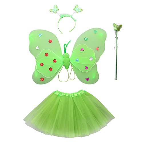 gazechimp pcs ala de mariposa varita mgica venda falda de tut para disfraces
