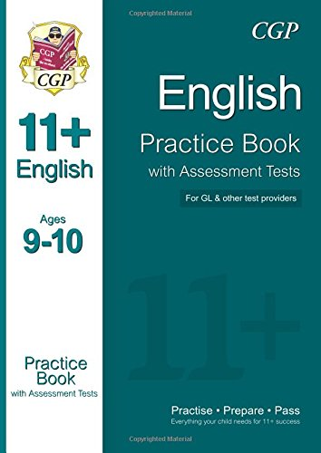 11+ English Practice Book with Assessment Tests Ages 9-10 (for GL & Other Test Providers) Cover Image