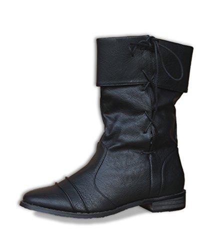 Botas de estilo medieval, color negro, color negro, talla 45 EU