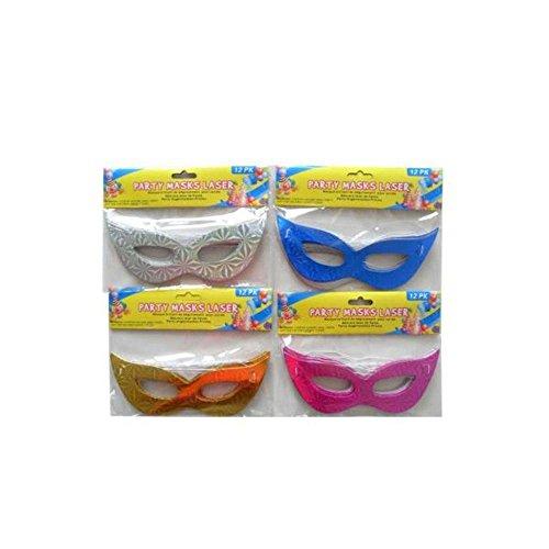 Masquerade Ball Laser Design Party Masken, 12Stück (Bulk Venezianische Masken)