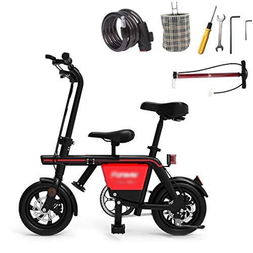 Duan hai rong DHR Elektroroller Adult LED Light Kindersitz Kick Scooter Lithium Batterie 48V Bequemes Pendeln Höchstgeschwindigkeit 25km / h Elektro Scooter (Color : Black, Size : 35km Mileage)
