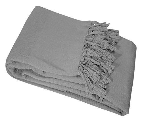 Nuances du Monde Sessel-Überwurf, Baumwolle, 150x 150cm, Grau