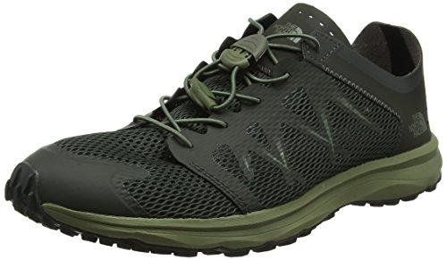 M Litewave Flow Lace, Zapatillas de Deporte para Hombre, Gris (Blackinkgrn/Fourleafclovr 4Du), 44.5 EU The North Face