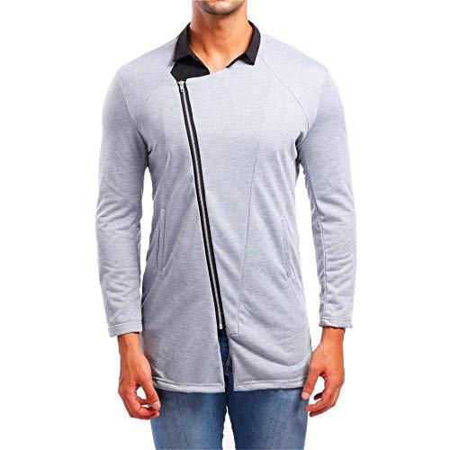 Zolimx Herren Jacke Herbst Langarm Taschen Hoodie Kapuzen-Sweatshirt Top Tee Outwear Bluse