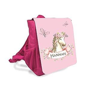 Kinderrucksack für Mädchen mit Namen u. Pony