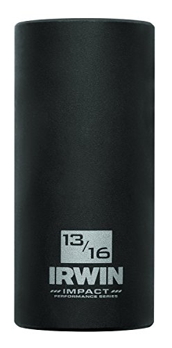 Irwin 1882332 Impact Performance Serie 6-Kant Deep Well Socket Bit, 13/16 Zoll, 3/8 Zoll Vierkantantrieb (Drive Deep Well Socket)