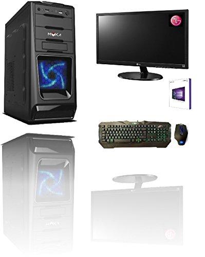 Pc desktop intel quad core licenza windows 10 professional 64 bit case atx /ram 8gb/hd 1tb/wifi/ingressi hdmi dvi vga 500w completo + monitor samsung 22
