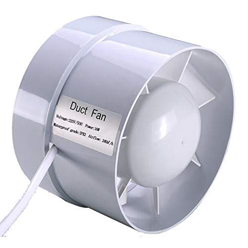 """5"""" / 120mm Estrattore Tube assiale diametro 125mm 240 m³/h aspiratore estrazione ventilazione standard di silenzio bagno a basso consumo energetico (5 inch)"""