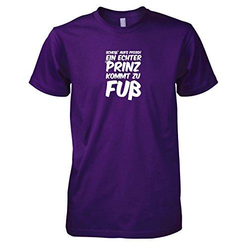 TEXLAB - Ein echter Prinz kommt zu Fuß - Herren T-Shirt Violett