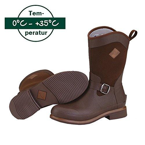 Cavalcata Muck Boot Stivali Reign Mid der Stivali alla moda, Unisex, marrone, 42 marrone