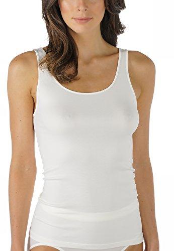 Mey Basics Serie Emotion Damen Tops breiter Träger Weiß 40