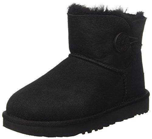 UGG Damen Mini Bailey Button Kurzschaft Stiefel, Schwarz (Nero), 37 EU (Boots Women Ugg Sale Clearance)