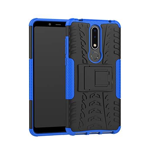 betterfon Nokia 3.1 Plus hülle Outdoor Handy Tasche Hybrid Case Schutz Panzer TPU Silikon Hard Cover Bumper für Nokia 3.1 Plus Blau