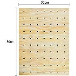 Kitchen furniture - Panneau perforé en bois massif, accessoires de panneau perforé de décoration murale, présentoir universel à la maison WXP (Couleur : Hole plate C)