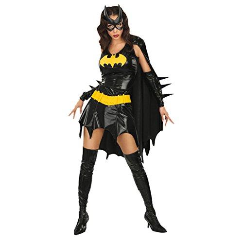 Schwarzes Batgirl Kostüm M 38/40 Superhelden Bat Girl Karnevalkostüm Fledermaus Outfit Verkleidung Damen Frauen (Für Kostüme Batgirl Frauen)