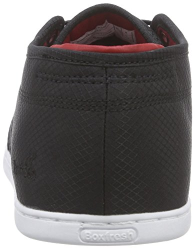 Boxfresh Sparko Icn Rip Nyl Nvy/tmln, Sneakers basses homme Noir - Schwarz (BLACK/CHILLI RED)