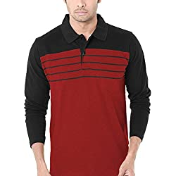 WEXFORD Men's Cotton Half Sleeve Casual T-Shirt (Red, X-Large)