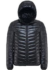 YOUJIA Vestes à capuche pour Homme, Doudoune Ultra Légère Manches longues Manteau d'hiver