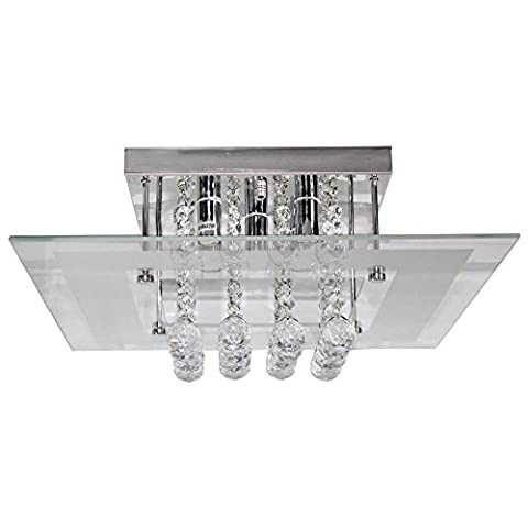 Moderne Flush Mount cristal plafonnier lampe k9Crystal Glass Chandelier Lumière G9* 540* 40cm Cristal