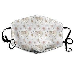 PecoStar Gesichtsmaske, Conchs Pearls Clipart wiederverwendbar, bequem, atmungsaktiv, für den Außenbereich, halbe Gesichtsmasken für Damen und Herren