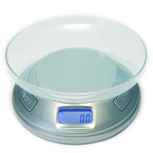 Digitale Mini Tisch Küchen Waage mit Stückzählfunktion im Rauchmelder Design von 0,1g bis 500g -...