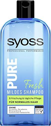 Syoss Shampoo Pure Fresh, 1er Pack (1 x 500 ml)