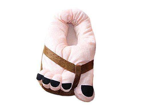 Kostüm Großen Füßen und Zehen Weicher Plüsch Hausschuhe Erwachsene Startseite Schuhe Kaffee (Cartoon-paare Kostüme)