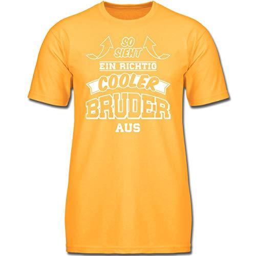 d - So Sieht EIN richtig Cooler Bruder aus - 128 (7-8 Jahre) - Gelb - F130K - Jungen Kinder T-Shirt ()