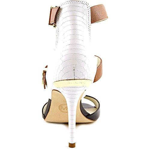 Michael Michael Kors Adriana Ankle Strap Cuir Sandales Opt-Blk-Lug